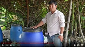 Making wet compost to fertilize your home garden